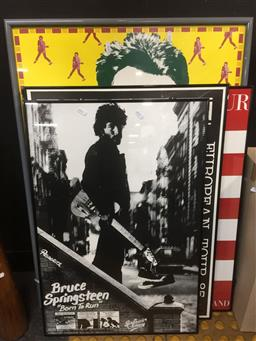 Sale 9152 - Lot 2598 - 3 Bruce Springsteen Posters & Elvis Costello Poster