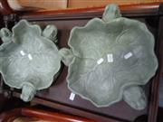 Sale 7969A - Lot 1044 - Set of 3 Frog & Lily Pad Dishes
