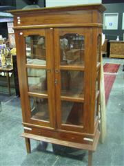Sale 7972A - Lot 1081 - Raised Timber and Glass Display Cabinet
