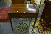 Sale 8031 - Lot 1030 - Cedar Single Drawer Side Table