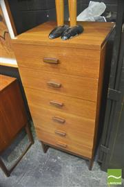 Sale 8310 - Lot 1026 - G-Plan Quadrille Teak Tall Boy Chest