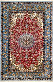 Sale 8307A - Lot 22 - Persian Silk Isfahan 180cm x 110cm RRP $7000