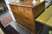 Sale 8359 - Lot 1058 - A Victorian Mahogany Chest of Five Drawers, raised on bun feet
