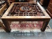 Sale 8700 - Lot 1081 - Chinese Coffee Table (missing glass insert)