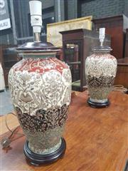 Sale 8917 - Lot 1019 - Pair of Modern Chinese Ceramic Table Lamps
