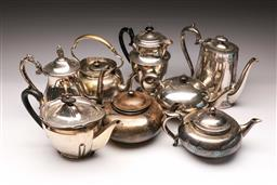 Sale 9119 - Lot 81 - A collection of Victorian & Edwardian EPNS teapots to include Perfect Teapot,