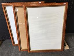 Sale 9147 - Lot 2093 - Set of 3 timber picture frames ( 54 x 70cm)