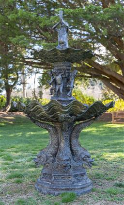Sale 9248H - Lot 8 - A Large Bronze fountain Height 218 x Width 123x