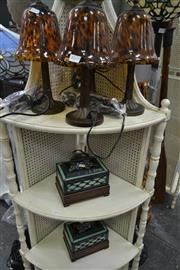 Sale 8161 - Lot 1070 - Set Of Four Leopard Print Table Lamps And Two Jewellery Box Examples20