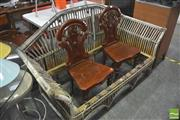 Sale 8406 - Lot 1088 - Cane Two Seater with No Base
