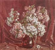 Sale 8484 - Lot 569 - Allan Thomas Bernaldo (1900 - 1988) - Still Life in a Ruby Jug 57.5 x 63.5cm