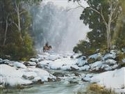 Sale 8519 - Lot 523 - Kevin Best (1932 - 2012) - Crossing the Snow 52 x 69.5cm