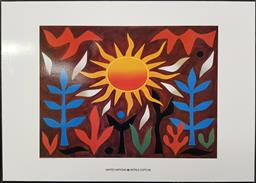 Sale 9254 - Lot 2078 - John Coburn Mounted Poster for United Nations World Expo 1988, 50 x 70cm