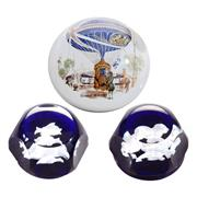 Sale 8000 - Lot 151 - Two Baccarat paperweights and a Murano paperweight.