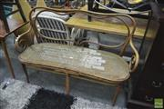 Sale 8338 - Lot 1152 - Bentwood Two Seater Sofa with Newly Strung Rattan Seat