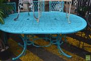 Sale 8338 - Lot 1398 - Outdoor Table & Three Chairs