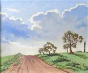 Sale 8563T - Lot 2058 - Peter Lindsay Clouds over the Homelane oil on canvas board, 37 x 44.5cm, signed lower left