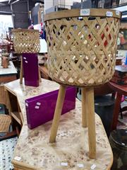 Sale 8843 - Lot 1062 - Pair of Elevated Cane Planters