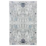 Sale 8914C - Lot 65 - Turkish Woven Space Carpet Collection 01, Silver/Blue, 200x300cm, Viscose/Acrylic