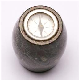 Sale 9119 - Lot 148 - A Modernist stone-carved compass, signed to base (H:4cm)