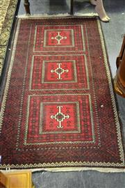 Sale 8031 - Lot 1096 - Carpet in Red w 3 Central Panels (92 x 168cm)