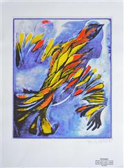 Sale 8068A - Lot 47 - Charles Blackman - Orpheus 83 Wings of Fire 70 x 49.5cm (sheet)