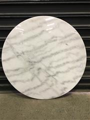 Sale 8402B - Lot 90 - White Marble Table Top - 80cm diameter, slight imperfections
