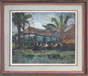 Sale 8443 - Lot 572 - J. Richard Ashton (1913 - 2001) - Papua New Guinea, 8.8.44 24 x 33.5cm