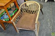 Sale 8462 - Lot 1013 - Pair of Cane Armchairs