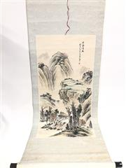 Sale 8739C - Lot 62 - Mountain Scene Chinese Scroll