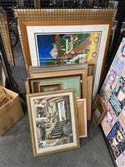 Sale 8932 - Lot 2085 - Large Group of Assorted Paintings incl. Norman Robins, Works on Paper, Decorative Print