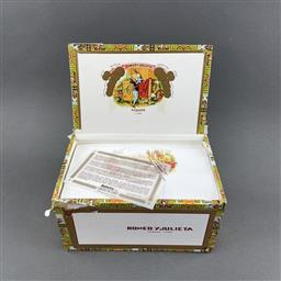 Sale 9120W - Lot 1453 - Romeo y Julieta Cazadores Cuban Cigars - box of 25 cigars, dated August 2017
