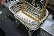 Sale 8031 - Lot 1037 - Painted Cane Baby Basket On Stand
