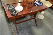 Sale 8115 - Lot 1429 - Timber Hall Table w Single Drawer & Drop Side