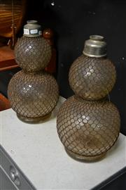 Sale 8127 - Lot 814 - Pair Of French Glass Soda Syphons