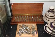 Sale 8231 - Lot 73 - Bakers Icing Nozzles in Fitted Timber Case with Another Bakers Icing Box (2)