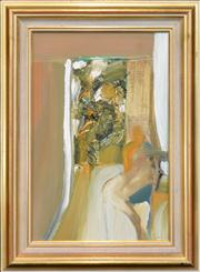 Sale 8254 - Lot 536 - Kevin Leslie Connor (1932 - ) - Figure in Interior 44.5 x 29cm