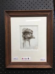 Sale 8753 - Lot 2096A - Austin Platt Emu Head, Centennial Park etching, ed. 16/50, signed lower right