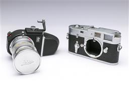 Sale 9093 - Lot 15 - A Leica M2 Camera, Fitted With Light Meter And Leitz Elmar Lens (1:3.5/65)