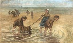 Sale 9123J - Lot 255 - After Bernardus Johannes Blommers (Dutch 1845-1914) Playtime Early 20th Century Oil on canvas Height 31.5cm x Width 54.5cm Height 42...