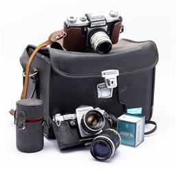 Sale 9185 - Lot 36 - Two vintage cameras incl. Yashica example
