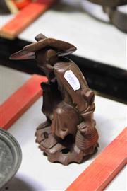 Sale 8081 - Lot 43 - Chinese Carving of a Man with Hat