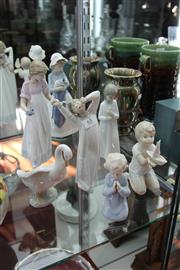 Sale 8112 - Lot 65 - Nao Figure of a Girl with 6 Other Nao Pieces