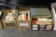 Sale 8169 - Lot 2225 - 3 Boxes of Cook Books & Various Cigarette Cards
