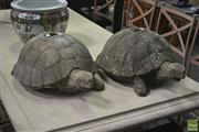 Sale 8262 - Lot 1074 - Pair of Concrete Turtle Figures (leg missing on one)