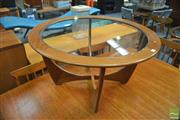 Sale 8338 - Lot 1043 - Round G-Plan Astro Coffee Table with Glass Top