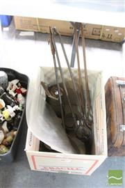 Sale 8478 - Lot 2222 - Metalwares incl. Fire Tools, Lamp, Scales & Weights, etc