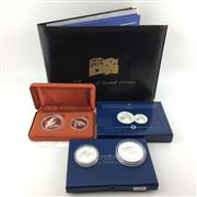 Sale 8618 - Lot 70 - The Australian Kookaburra Silver Proof Coins (3 sets, 9oz total), together with 25 Years of Decimal Currency Display Book
