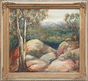 Sale 8794 - Lot 2033 - Dora C Robson - Mt. Buffalo oil on board, 44.5 x 50cm, signed lower right -