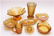 Sale 9018 - Lot 90 - Collection of amber glasswares incl. bowls, dishes